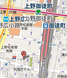 上野広小路(駅)周辺の三菱UFJ銀行 - NAVITIME
